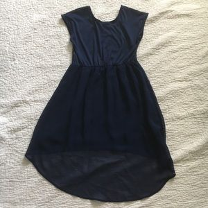 George Dresses - Navy dress with gold glitter